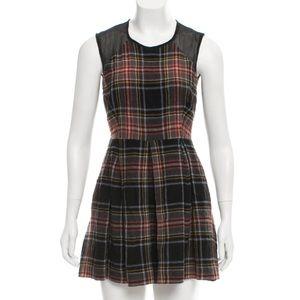 Markus Lupfer Plaid A-Line Mini Dress